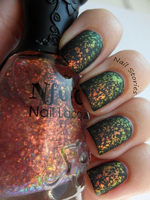 Beautiful nails created by Nfu On 49, black polish, and a matte top coat!
