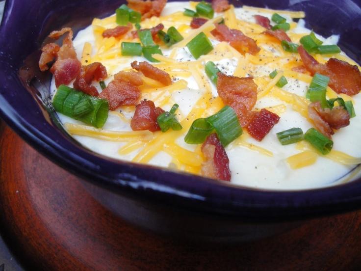 Guy Fieri's Fully Loaded Baked Potato Soup- minus the bacon