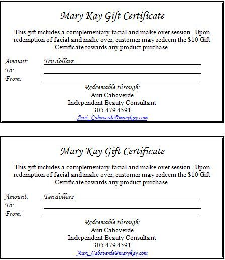 Information to include on a gift certificate  Part 2