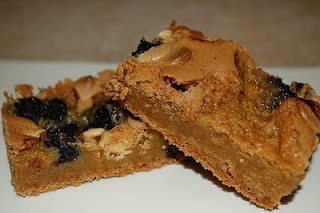 Lemon-Scented Blueberry White Chocolate Blondies | via The Food Hound