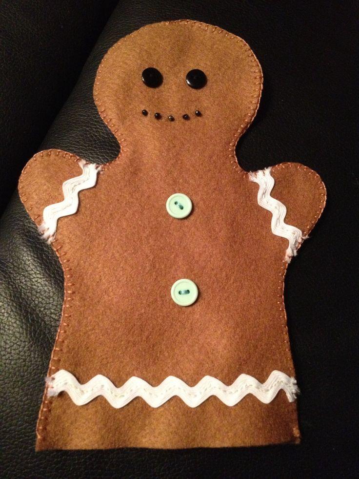 My gingerbread man hand puppet   preschool (Young Years)   Pinterest