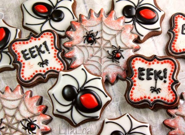 LilaLoa: Halloween Spider Cookies | Cookies | Pinterest
