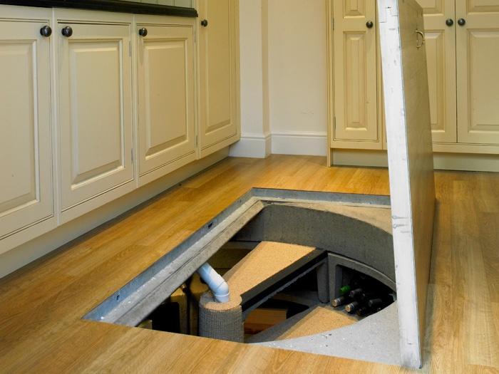 Trap door spiral staircase wine cellar home sweet home - Wine cellar trap door ...