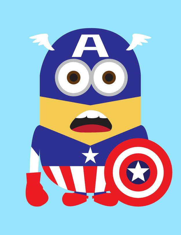 despicable me-Captain america.... yes!