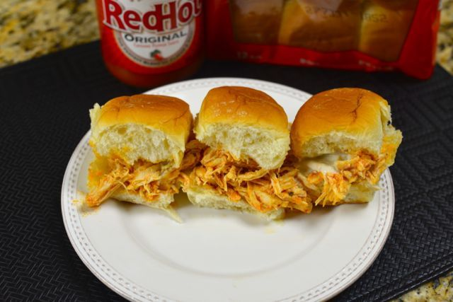 Buffalo Chicken Sliders. All the goodness of a hot wing, but you don't ...