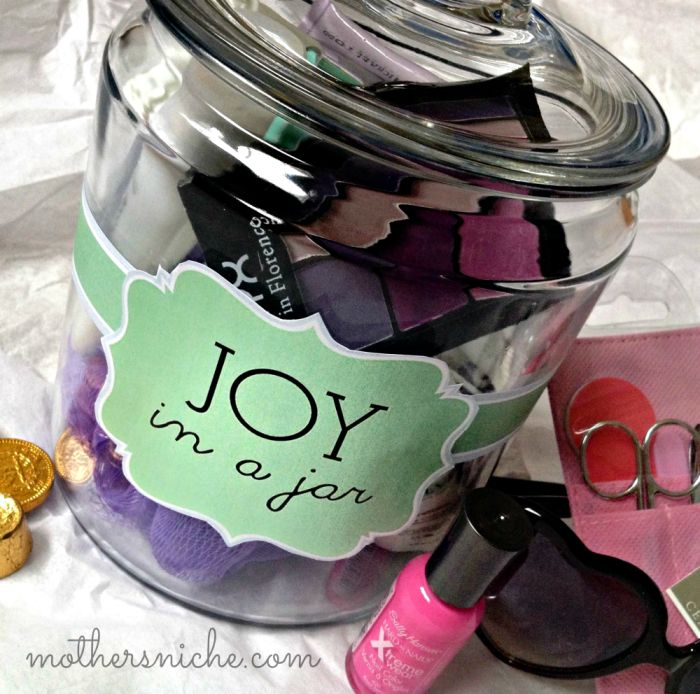 """""""Joy in a Jar"""" printable gift tag. Perfect gift for any holiday, celebration, or for brightening someone's day and SO easy to customize for ANYTHING."""