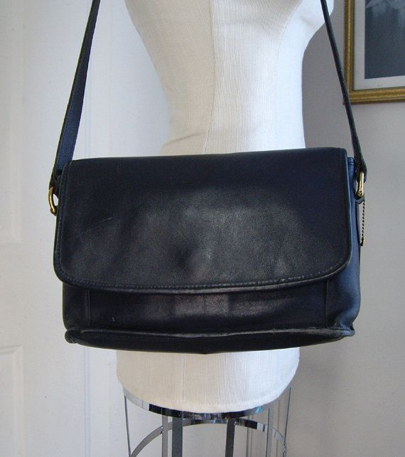 Coach Navy Blue Leather Cross Body Shoulder Bag #Vintage #Coach ...
