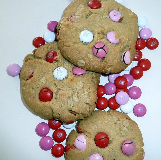 Peanut Butter Oatmeal M&M Cookies | Cookies/Bars | Pinterest