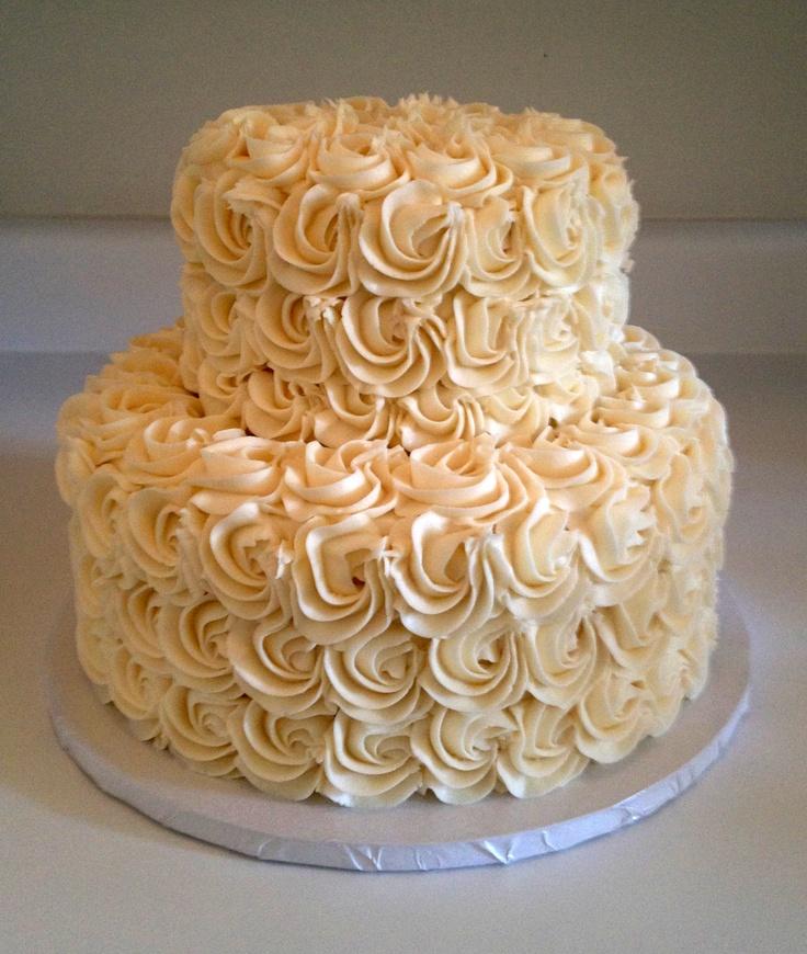 Buttercream Wedding Cakes And Desserts: Buttercream Rosettes Wedding Cake