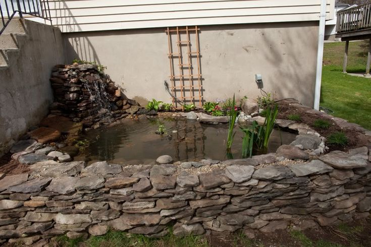 Pin by stacy baggett on exterior pinterest for Concrete pond construction