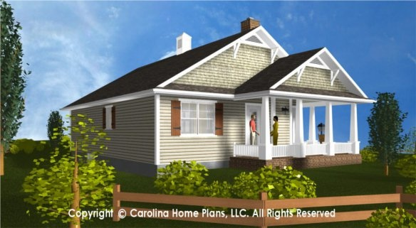 Small house plan for downsizing from carolina home plans for Carolina home plans