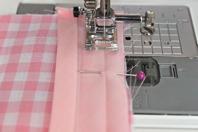 The right way to sew on bias tape.  I never knew I was doing it wrong.  Now I see why I was always to frustrated:)