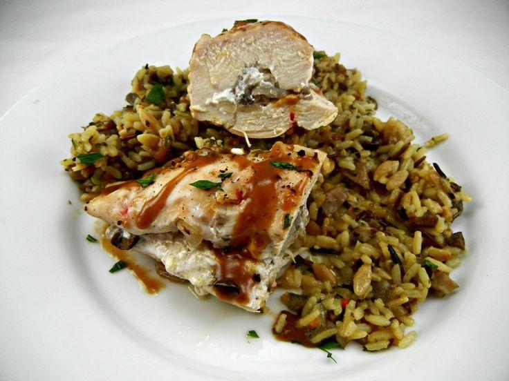 recipeblogswap - Mushroom & Goat Cheese Stuffed Chicken with Easy Pan ...