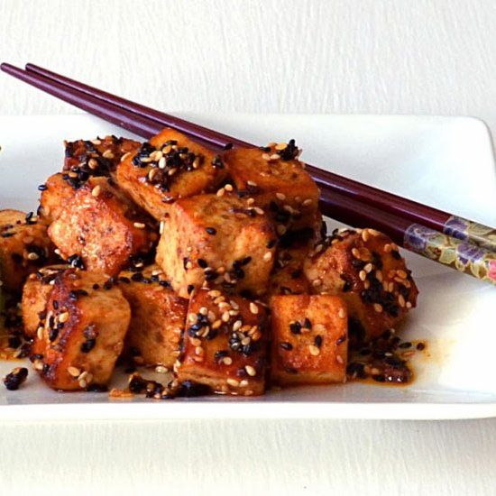 Golden brown crispy tofu w/ a sriracha-honey-sesame glaze. Use all ...