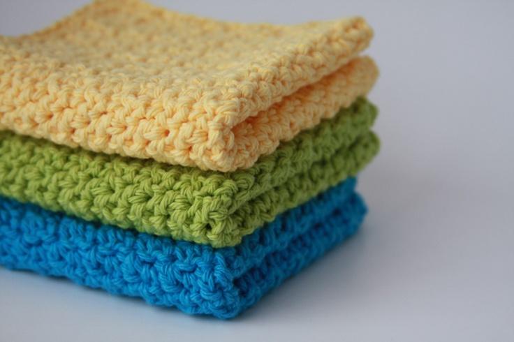 Crochet Washcloth : crochet cotton washcloth crochet Pinterest