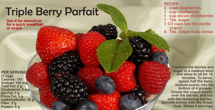 Triple Berry Parfait, by CSPI Chef Kate Sherwood