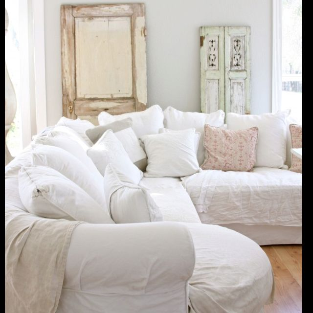 Comfy white couch  For the Home  Pinterest