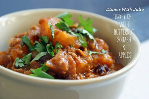 Chicken Chili with Butternut Squash and Apples