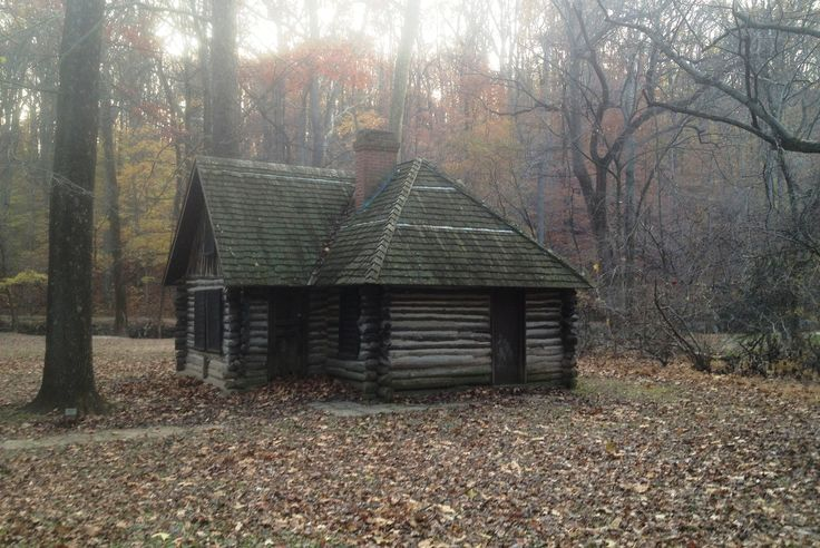 Cabin in the wood colonial frontier houses cabins interiors and - The wood cabin on the rocks ...