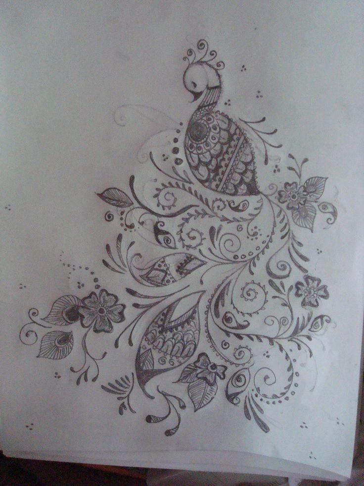 Mehndi Tattoo Peacock : Mehndi peacock love tattoo pinterest