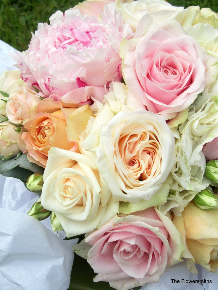 Peony and garden roses bouquet kennedy wedding pinterest - Garden rose bouquet ...