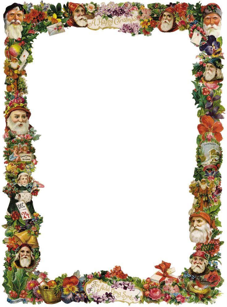 Victorian christmas borders and frames victorian christmas frame