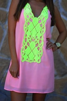 findsavebuynet fashion neon summer mini dress