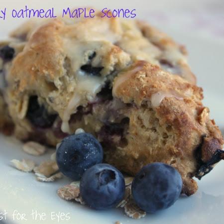 Blueberry Oatmeal Maple Scones   Brunch   Pinterest
