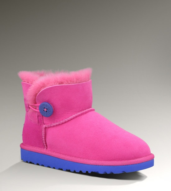 navy blue and pink uggs