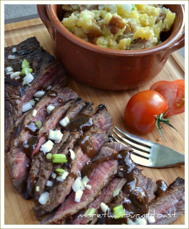 Canadian Rye Whiskey and Brown Sugar Flank Steak