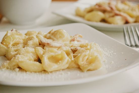 london bakes | orecchiette with onions, bacon and cream