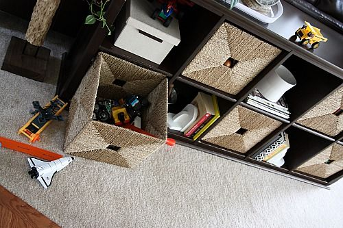 Family room toy storage idea