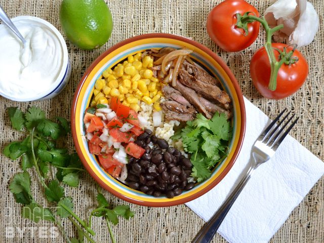 Grilled Flank Steak With Black Beans Corn And Tomatoes Recipes ...