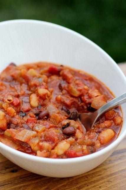 Twenty-Minute Four-Bean Vegetarian Chili | Vegan soups to make | Pint ...
