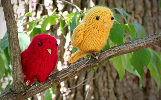 Knitted Bird Pattern : Little Birds Knitting Pattern