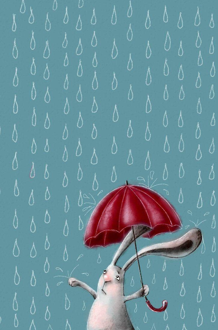 Bunny and the rain
