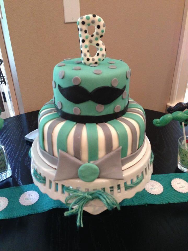mustache baby shower cake new guy in town pinterest