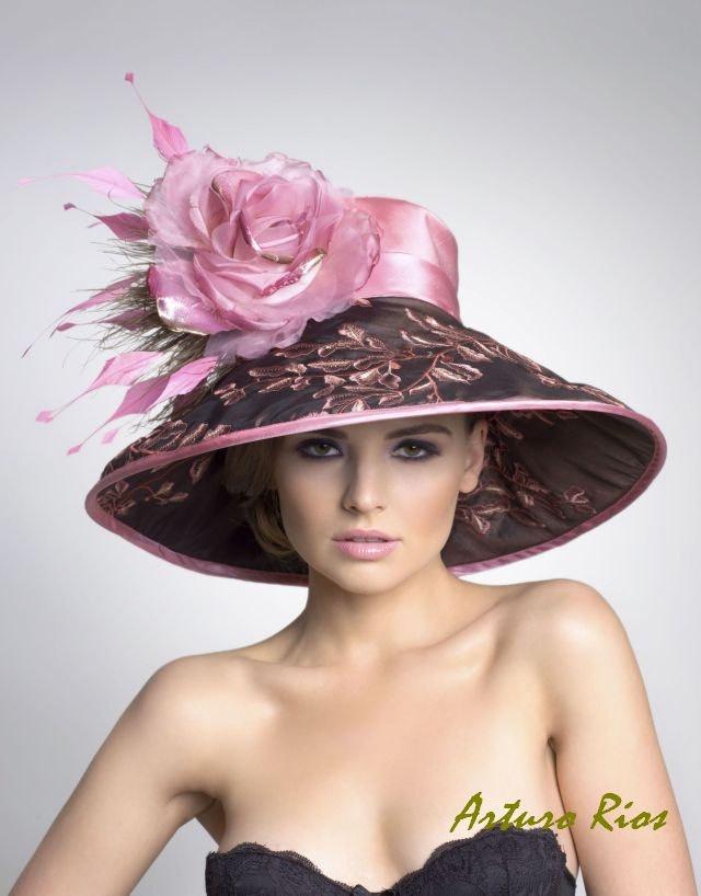 Couture Дерби HatLampshade Hat по ArturoRios на Etsy