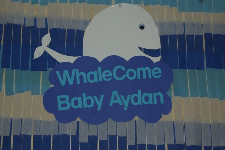 whale baby shower baby shower ideas pinterest