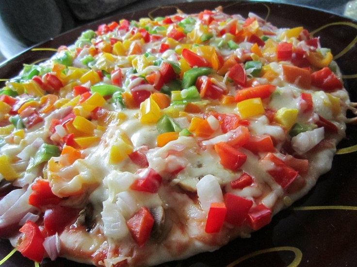 rainbow pizza | Food and Drink | Pinterest