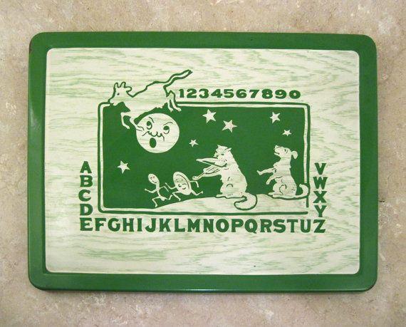 Vintage Porcelain Enamel Child's Table Top  by DrStrangeGoods, $80.00