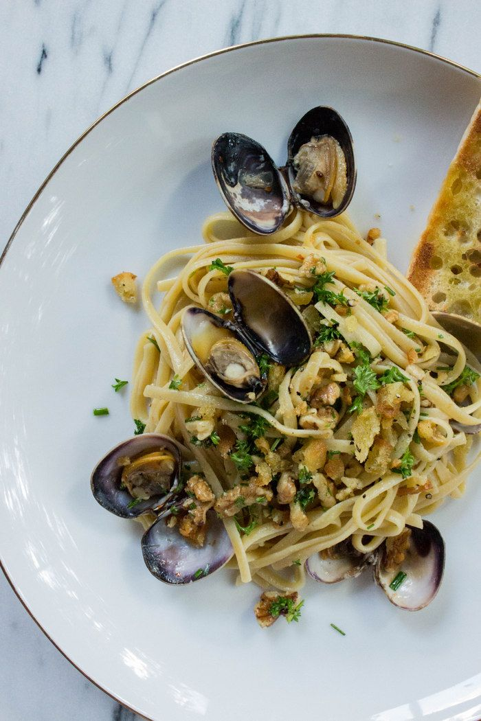 Pasta With Clams, Vodka Sauce And Crispy Breadcrumbs Recipes ...