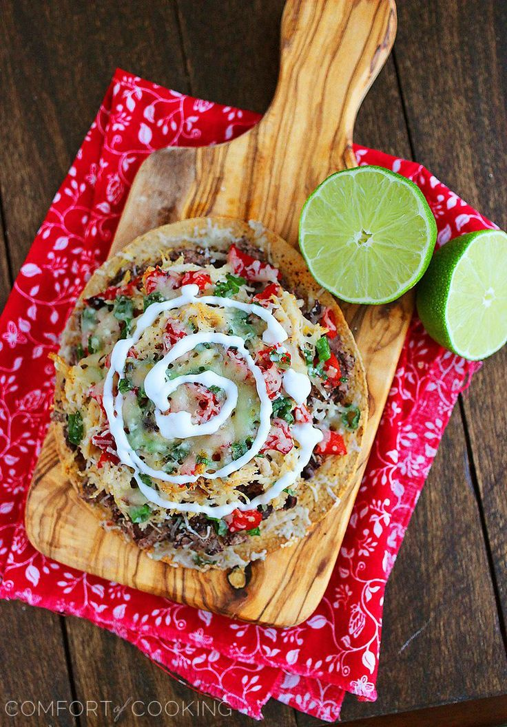 Baked Mexican Tostadas. Click image for recipe.