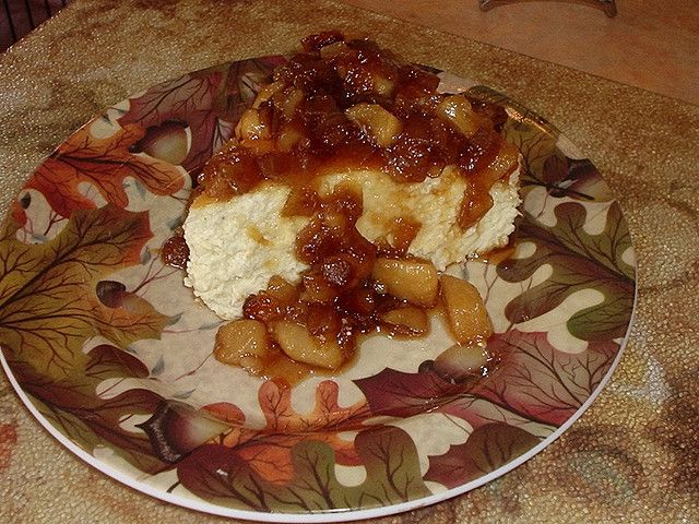 Peabody's Bleu Cheese Cheesecake with Onion-Pear Jam (Appetizer) via ...