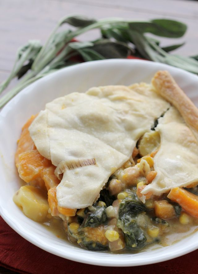 winter squash pot pie with swiss chard and chickpeas from Eats Well ...
