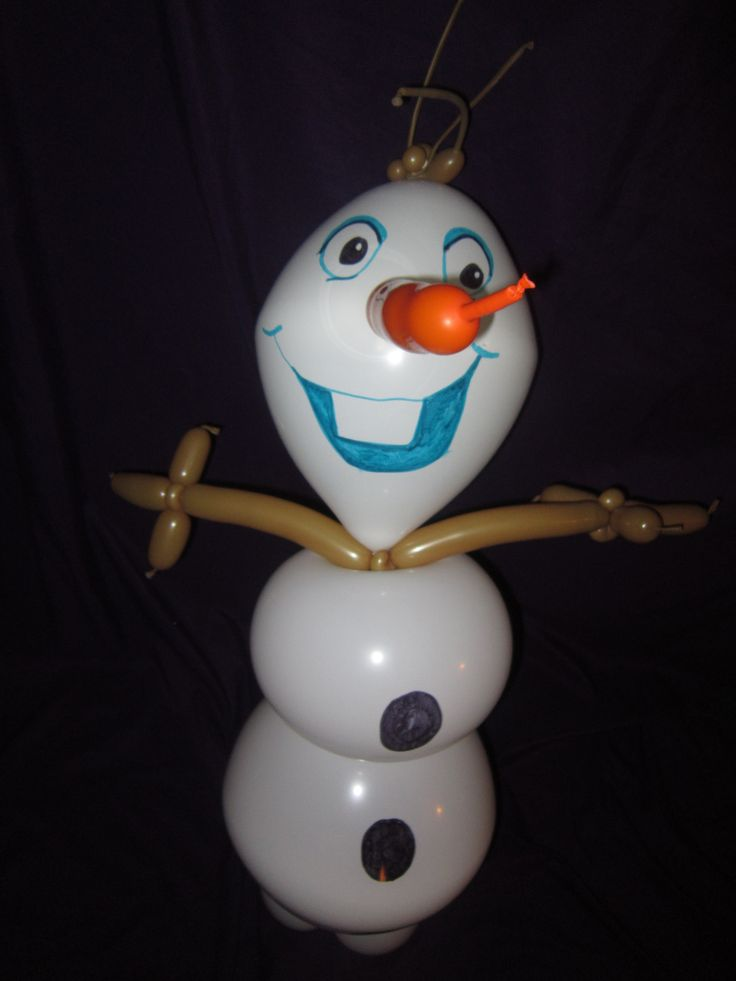 Frozen snowman olaf inspired by disney balloons pinterest