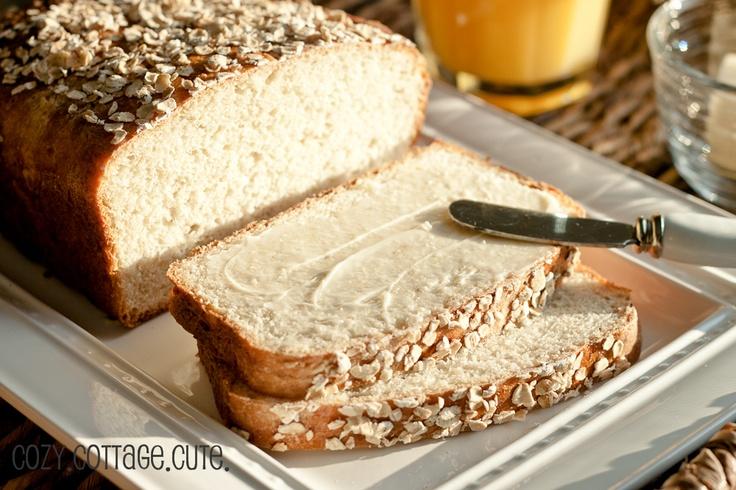 Homemade Honey Oat Bread | food love: breads | Pinterest