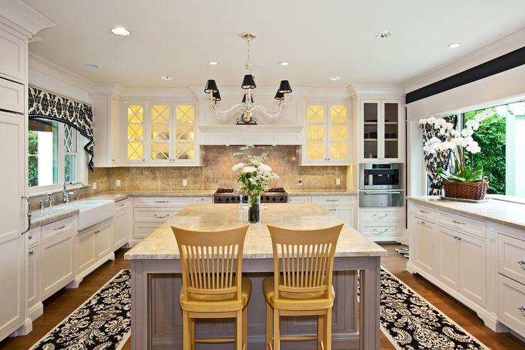 black and white kitchen love the pop of yellow