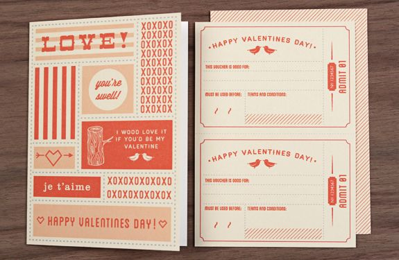 Love vs. Design created FREE Valentine's Day Card and Coupons for you!