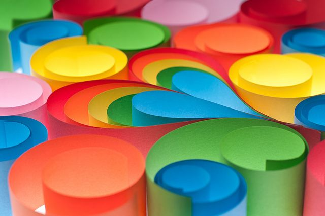 Rainbow Paper Heart II photo by daitoZen